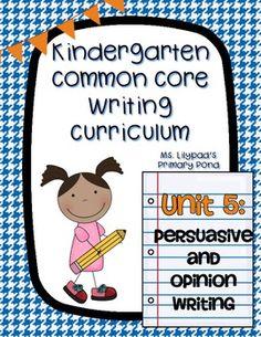 persuasive writing in kindergarten