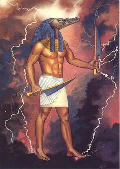 Sobek - Artwork by Judith Page #Egypt #Mythology