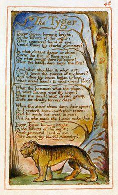 The Tyger, William Blake, Love this one