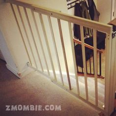 Babyproofing the top of the stairs - via zMOMbie