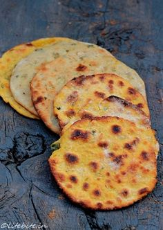 Indian savory flat breads! Recipe link; http://litebite.in/recipes-missi-roti-potato-kulchas-and-panchmel-daal-holding-on-to-my-roots/  ##indian cuisine #recipes #vegetarian @Sanjeeta kk Lite Bite
