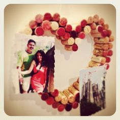 Corks to heart