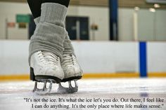 This sounds something similar to something my daughter said about why she likes to skate.