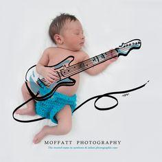 Guitar Hero, Baby Art.  By Moffatt Photography