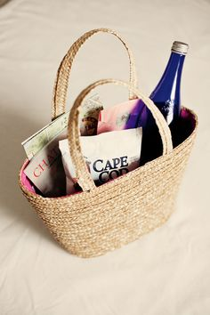 Cape Cod Welcome Bags.