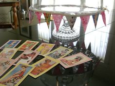 Party decorations with a pin up girl theme.