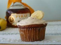 Bananas Foster Cupcake with Pyrat rum.