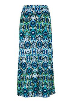 Turquoise ikat maxi skirt (original price, $34) available at #Maurices