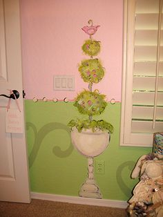 Topiary from Paris Theme -- Heather and I have discussed a Paris and French poodle theme if she has a girl.   #french #themed #nursery #art #paris #france #parisian #chanel #fashion