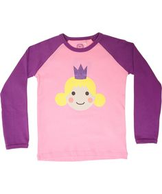 Ej Sikke Lej charming princess pink t-shirt with purple sleeves #emilea
