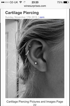 Want this double cartilage piercing
