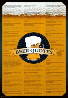 Beer Quotes Posters