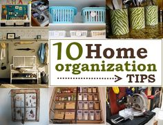 10 Home Organization Tips