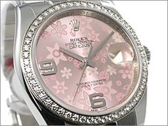 Pink Rolex flowers - Oh yeah!  I can see me buying this!