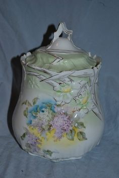 Lovely RS Prussia Biscuit Jar | eBay