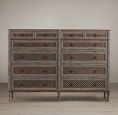 Louis XVI Treillage 12-Drawer Dresser