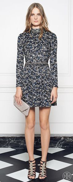 The Torrence dress, a standout from our runway that gives a chic minidress a modern renaissance | Tory Burch Holiday 2014