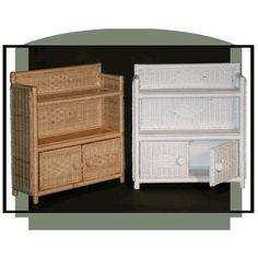 Bathroom Cabinet via @wickerparadise #bathroom #wicker #cabinet www.wickerparadise.com