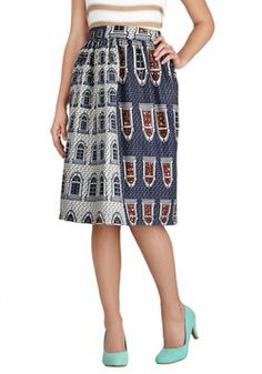 Upside Townhouse Skirt, #ModCloth