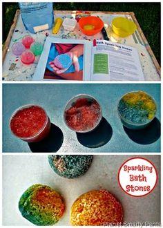 DIY Sparkling Bath Stones #stemactivities