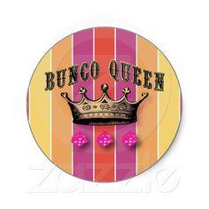 Bunco Queen Stickers