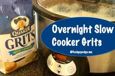 Overnight Slow Cooker Grits Recipe plus the breakfast casserole we enjoy Christmas morning