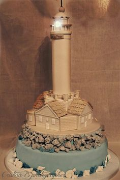 Porer Lighthouse  Cake by LaBelleAurore