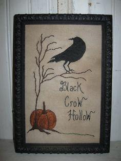 2stitchin: Black Crow Hollow stitchery