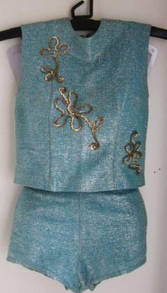vintage blue majorette uniform