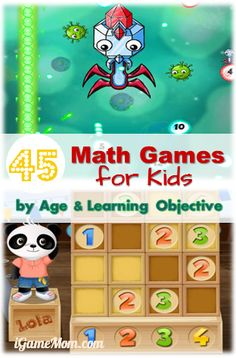 45 Math Game Apps for Kids by Age and Learning Objective #kidsapps #MathApps #GameApps