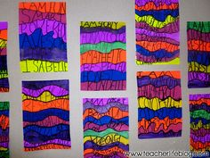 """Brighten up your room with this """"I am Poem"""" Art Project- I do these in the first month of school and then display them for Back to School Night!"""
