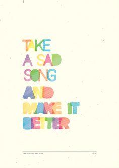Designer Illustrates The Lyrics Of 'Hey Jude' By The Beatles - DesignTAXI.com