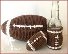 Football Fun Set | Crochet Pattern | YouCanMakeThis.com
