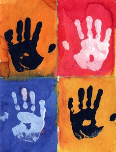 Art Projects for Kids: Warhol Hand Prints