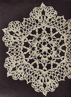 Ravelry: Lacy Six Point Doily pattern by Cheri Mancini - free pattern - beautiful!!!