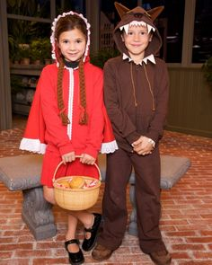 Little Red Riding Hood and Wolf Costumes using Hoodies