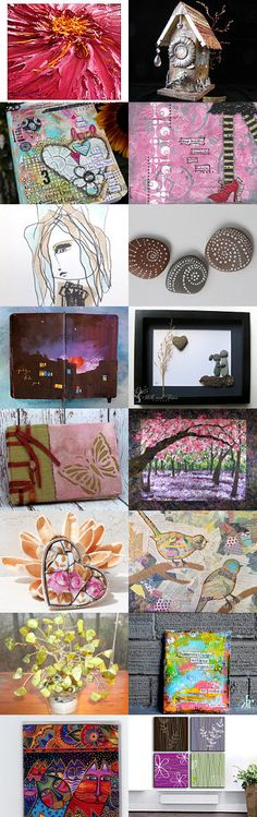 Mixed Media Monday #23 - etsy treasury curated by Carla's Craft
