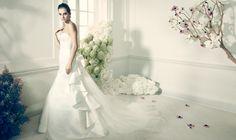 Truly Zac Posen Strapless Duchess Satin Fit and Flare Gown Style ZP345004 #davisdbridal #weddingdress