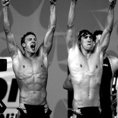 Michael phelps and Ryan Lochte. dream boys.