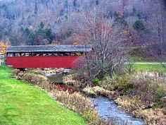 Buttonwood covered bridge and Blockhouse Creek
