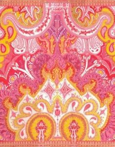 orange patterns, charms, color, art, orang paisley, oranges, pink, fabric, design