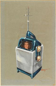 1947 Richard Arbib design for Visionette Portable Television