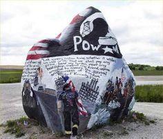 americana, iowa, hero, freedom rock, art, inspir, paint, forget, rocks