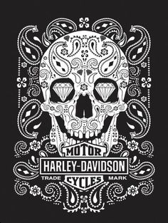 Hydro74 - HARLEY-DAVIDSON>>>>LOVE....possible back of neck tattoo of just the sugar skull!! K Chudy!!!