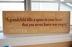 Nice gift for grandparents. christmas gift ideas, grandparents gift ideas, mothers day, sweet quotes, famili, thoughtful gifts, mother day gifts, name signs, christmas gifts