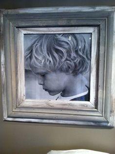 distress frame, pictur frame