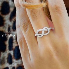 Infinity Knot Diamond Ring - LOVE!