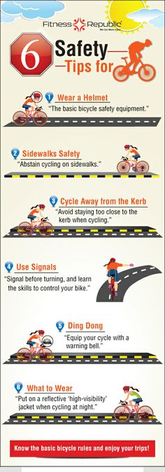Safety Tips for Cyclists http://www.fitnessrepublic.com/cycling/safey-tips-all-cyclists-can-follow.html