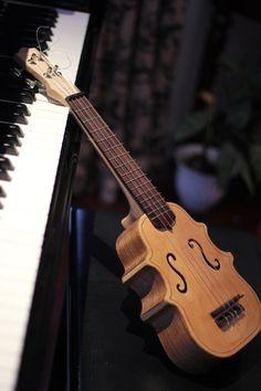 Violin Shaped Ukulele by Mimitchki.deviantart.com on @deviantART