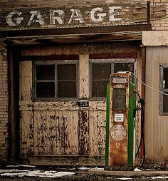 Only garage and gas pump.